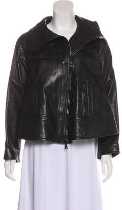 Proenza Schouler Leather Zip-Up Jacket