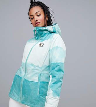 Billabong (ビラボン) - Billabong Sula printed ski jacket in blue