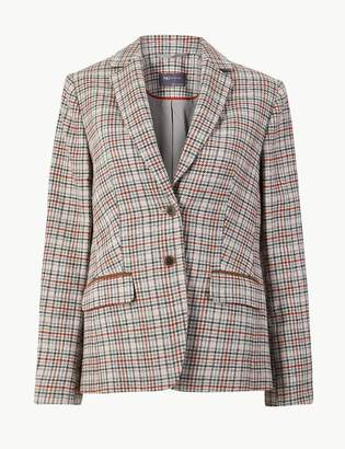 Marks and Spencer Checked Slim Fit Blazer