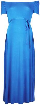 Dorothy Perkins Womens **Maternity Cobalt Sweetheart Midi Bardot Dress