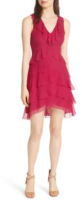 Alice + Olivia Felicita Ruffle Silk Dress