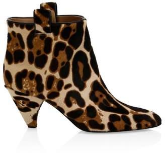 c0269c3e17 Laurence Dacade Terence Leopard-Print Calf Hair Kitten Heel Booties