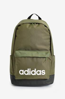 adidas Boys Khaki Classic Linear Backpack - Green