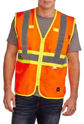 Walls Big Men's Full ANSI II High Visibility Safety Vest, 2XL
