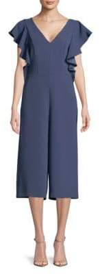 BCBGeneration Short-Sleeve Cropped Jumpsuit