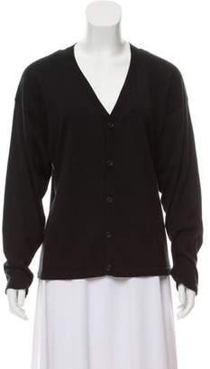 eskandar Cashmere-Blend Button-Up Cardigan