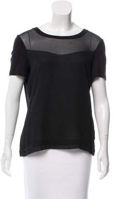 Robert Rodriguez Sheer Short Sleeve Top
