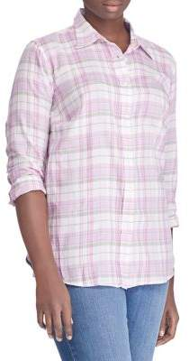 Lauren Ralph Lauren Plus Plaid Cotton Twill Shirt