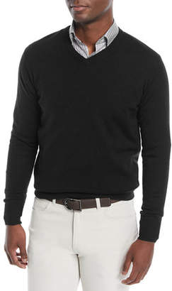 Peter Millar Men's Crown Soft Wool/Silk V-Neck Sweater