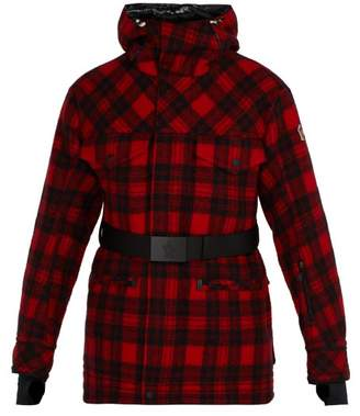 Moncler 3 Lumberjack Down Filled Wool Ski Jacket - Mens - Red Multi