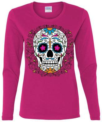 DAY Birger et Mikkelsen Tee Hunt Floral Sugar Skull of The Dead Long Sleeve T-Shirt Calavera XL