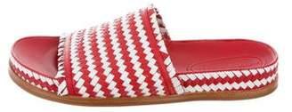 Sigerson Morrison Woven Slide Sandals