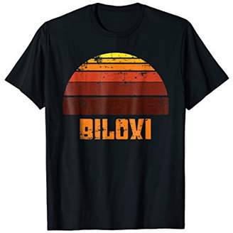 Biloxi Tropical Sunset Ocean Retro Vintage T Shirt 1970's