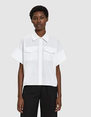 Need Callie Cropped Shirt in White