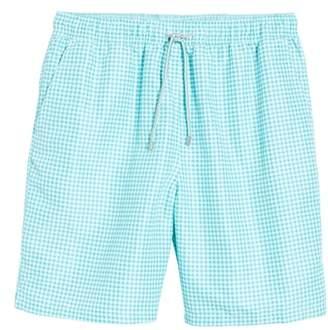 Peter Millar Gingham Style Swim Trunks