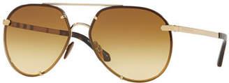 Burberry Mirrored Metal Aviator Sunglasses