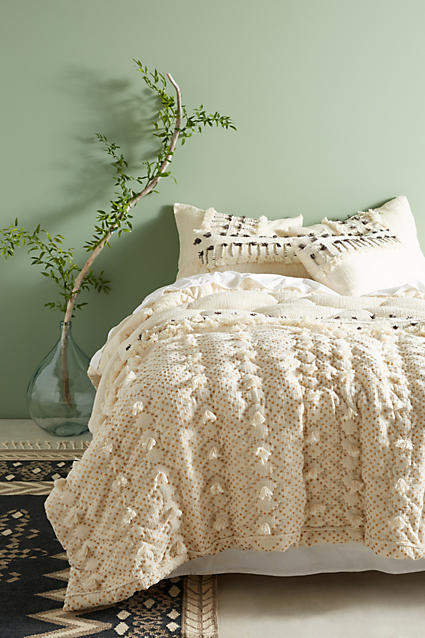 Anthropologie Anthropologie Tufted Pointilliste Quilt