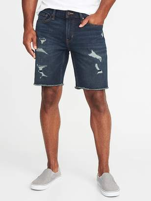 "Old Navy Slim Built-In Flex Denim Cut-Off Shorts for Men (9"")"