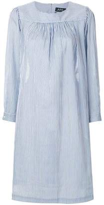 A.P.C. striped smock dress