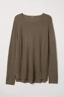 H&M Textured-knit Sweater - Beige