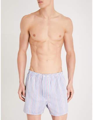 Derek Rose Striped regular-fit cotton boxers