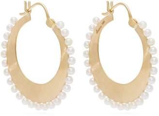 Irene Neuwirth Akoya-pearl and 18kt gold hoop earrings