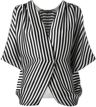 Etro striped wrap front blouse