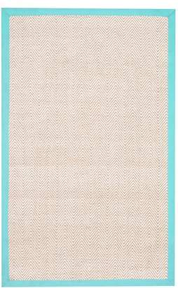 Pottery Barn Teen Shoreline Jute Chenille Border Rug, 8'x10', Pool