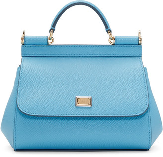 Dolce & Gabbana Blue Mini Miss Sicily Bag $1,295 thestylecure.com