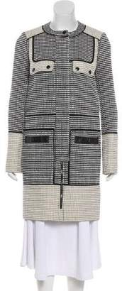 Proenza Schouler Leather Trimmed Coat