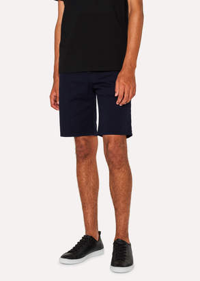 Paul Smith Men's Navy Garment-Dyed Denim Shorts