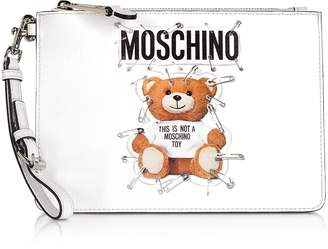 Moschino Optic White Teddy Bear Small Clutch