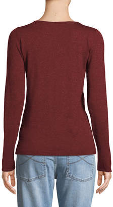Brunello Cucinelli Boat-Neck Long-Sleeve Metallic-Knit Pullover