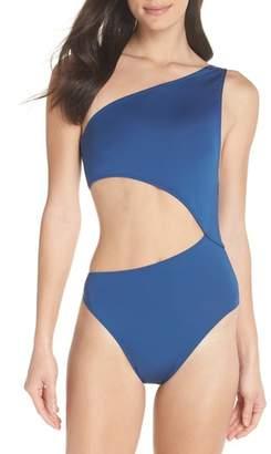 J.Crew J. CREW Playa Tilden One-Shoulder One-Piece Swimsuit
