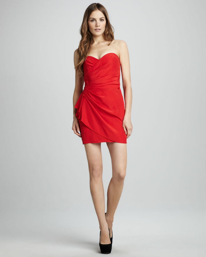 Parker Strapless Gathered Dress
