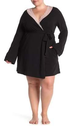 Cosabella x Eloquii Ferrara Lace Trim Sleep Kimono Robe (Plus Size)
