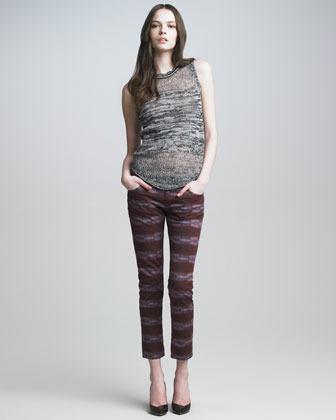 See by Chloe Skinny Cropped Pants, Red Detroit