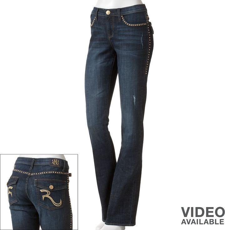 Rock & Republic embellished bootcut jeans