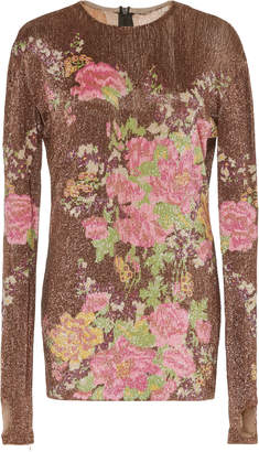 Richard Quinn Floral Glass-Beaded Top