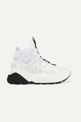 Stella McCartney Faux Leather And Neoprene Sneakers - White