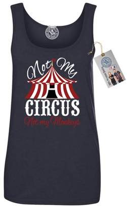 Custom Apparel R Us Not My Circus Not My Monkeys Funny Saying Womens Tank Top Shirt & Magnet