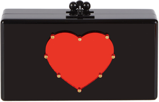 Jean Studded Heart Clutch