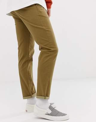 Asos Design DESIGN slim chinos in washed brown