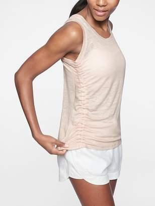 Athleta Linen Ruched Tank