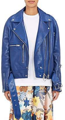 Acne Studios Women's Lotta Leather Moto Jacket - Ocean Blue