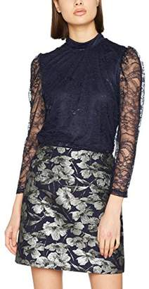 Warehouse Women's Chantilly Lace High Neck Blouse