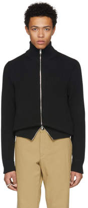 Maison Margiela Black High-Neck Zip Sweater