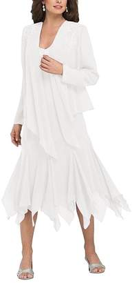D.W.U Chiffon Short Formal Party Ball Gown with Jacket Mother of the Bride Dresses