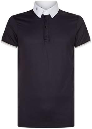 Cavalleria Toscana Stripe Trim Polo Shirt