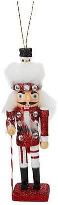 Kurt Adler Glittered Snowman Hat Soldier Ornament